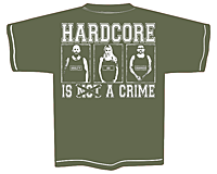 PROTECTION OF HATE - T-Shirt CRIME olive back