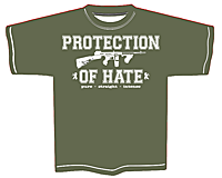 PROTECTION OF HATE - T-Shirt CRIME olive front